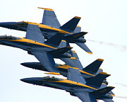 Blue Angel Photos Posters - Split Second  Poster by Neal  Eslinger
