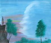 Split Sky Print by Robert Meszaros