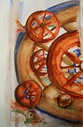 Country Western Paintings - Split Wheel Left by Elaine Duras