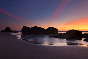 Cannon Beach Prints - Splitting the Heavens Print by Mike  Dawson