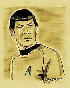 Sci-fi Drawings - Spock by Jason Kasper