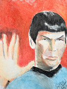 Spock Paintings - Spock  by Jon Baldwin  Art