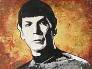 Star Ceramics Framed Prints - Spock One Up Framed Print by Eric Dee