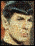 Enterprise Digital Art Prints - Spock Star Trek Mosaic Print by Paul Van Scott