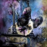 Boxer Mixed Media Metal Prints - Spok Metal Print by Miki De Goodaboom
