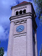 Spokane Prints - Spokane Clock Tower Print by LD Gonzalez
