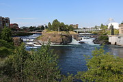 Spokane Photo Prints - Spokane Falls HDR Print by Carol Groenen