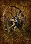 Cards Vintage Metal Prints - Spoke Metal Print by Larysa Luciw