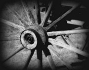 Wagon Photos - Spoked wheel by Perry Webster