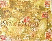 Legal Painting Posters - Spoliation Poster by Laura Pierre-Louis