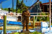 Fishing Village Digital Art - Sponge diver by David Lee Thompson