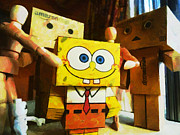 Lego Digital Art - SpongeBob always loves the group hugs by Steve Taylor