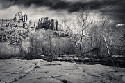 Cathedral Rock Photos - Spooky Castle Rock by Darcy Michaelchuk