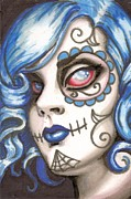 Sugar Skull Prints - Spooky Lil Girl Print by Shayne of the  Dead