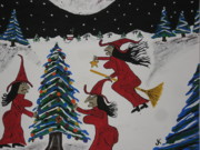 By Jeff Koss Paintings - Spooky Merry Christmas by Jeffrey Koss