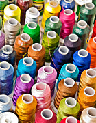 Susan Leggett Acrylic Prints - Spools of Thread Acrylic Print by Susan Leggett