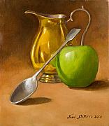 Featured Paintings - Spoon and Creamer  by Joni Dipirro