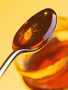 Detoxification Prints - Spoonful Of Honey Above A Jar Print by Tek Image