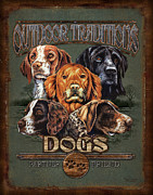 Lab Metal Prints - Sporting Dog Traditions Metal Print by JQ Licensing