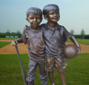 Sports Mixed Media - Sports Buddies by Garland Johnson