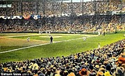 Baseball Stadiums Paintings - Sportsmans Park In St. Louis Mo 1943 by Dwight Goss