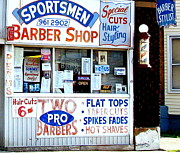 Hair Cuts  Posters - Sportsmen Barber Shop Poster by MB Matthews