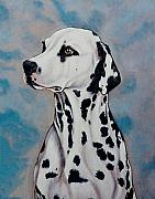 Dogs Painting Metal Prints - Spotty Metal Print by Lilly King