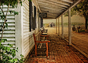 Covered Porch Posters - Spouter Tavern Poster by Robin-Lee Vieira