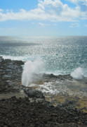 Spouting Prints - Spouting Horn Blow Hole Print by Michael Peychich