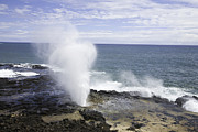 Power In Nature Prints - Spouting Horn Blowhole Kauai, Hawaii Print by John Burcham