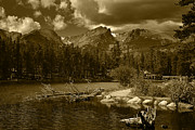 Stock Photo Digital Art - Sprague Lake Rocky Mountain National Park by Daniel Chui