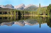 David Yunker Framed Prints - Sprague Lake Rocky Mountains Framed Print by David Yunker
