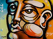 Graffiti Painting Posters - Spray Face No.1 Poster by John Osgood