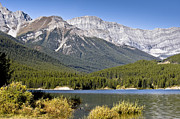 Canyon Lake Prints - Spray Lake And The Canadian Rockies Print by Zoltan Kenwell