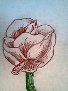 Spray Drawings - Spray Paint Rose by Misty Dempsey