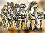 Advocacy Framed Prints - Spreading Awareness against the Horse Slaughter Industry Framed Print by Debbie Edwards