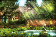 Religious Prints - Spring - Garden - The pool of hopes Print by Mike Savad