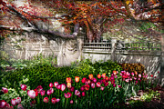 Egress Framed Prints - Spring - Gate - My Spring garden  Framed Print by Mike Savad