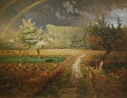 Rainbow Metal Prints - Spring at Barbizon Metal Print by Jean Francois Millet