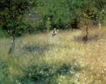 Meadow Paintings - Spring at Chatou by Pierre Auguste Renoir