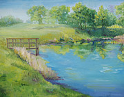 Crawfish Art - Spring at Crawfish Pond by Diana Cox