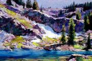 Featured Paintings - Spring at Jade Lake by David Lloyd Glover