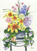 Botanical Painting Originals - Spring At Last by Marsha Elliott