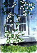 French Doors Framed Prints - Spring at Moms Framed Print by Jane Croteau