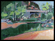 Park Scene Paintings - Spring at Slide Rock Park by Betty Pieper