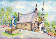 Quebec Paintings - Spring at the Beauvoir Sanctuary by Ion vincent DAnu