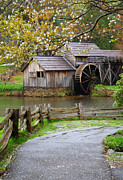 Grist Mill Prints - Spring at the Water Mill Print by Darren Fisher