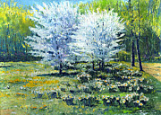 Trees Paintings - Spring Baden-Baden  by Yuriy  Shevchuk