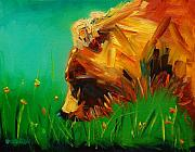 Original Oil Paintings - Spring Bear by Diane Whitehead