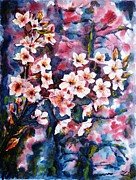 Sakura Paintings - Spring Beauty by Zaira Dzhaubaeva